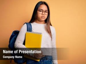 Asian young smart student girl