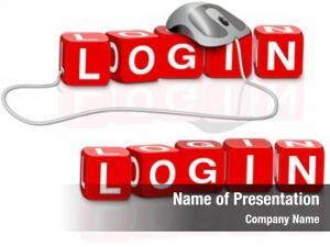 Logon login icon button red