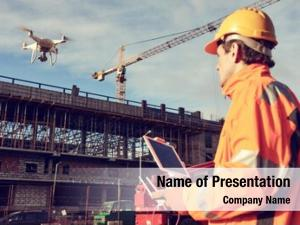 Drone operated by construction