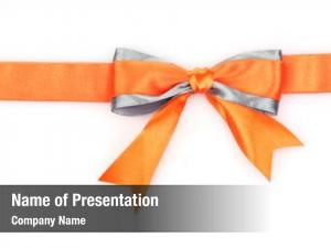 Bow orange ribbon white