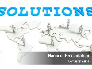 Business solutions global abstract people