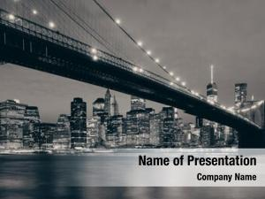 Manhattan downtown powerpoint background