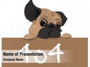 Puppy illustrative representation 404 error