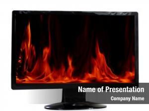 Monitor burning lcd white