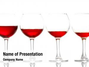 Wineglasses on white