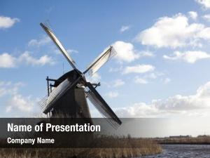 Windmills, old dutch holland, rural