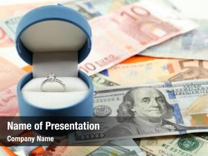 Box wedding ring banknotes