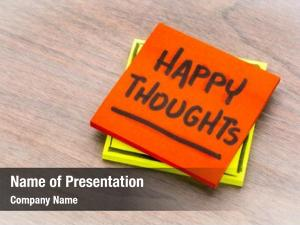Happy thoughts powerpoint template