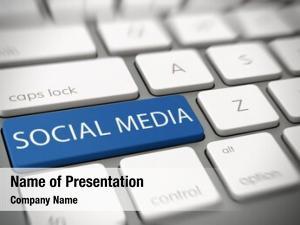 Media online social concept blue