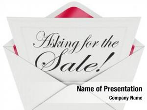 Words asking sale note envelope
