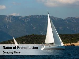 Sailing luxury yachts regatta