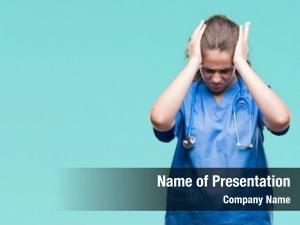 Doctor young brunette girl wearing