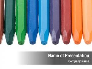 Crayons with space powerpoint template
