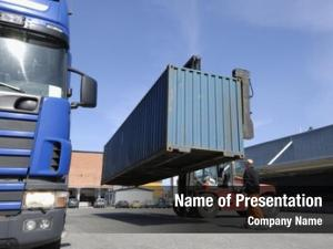 Container forklift moving truck commercial