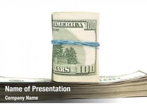 Bills hundred dollar rolled rubberband