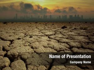 Pollution global warming theme cracked