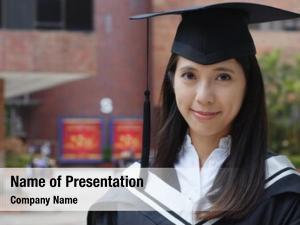 Graduation woman powerpoint template