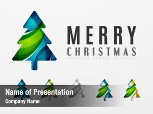 Christmas set abstract tree icons,