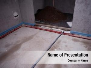 Site interior construction concrete walls