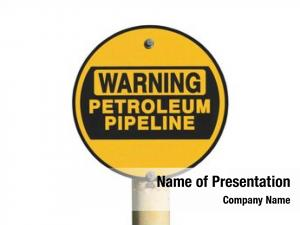 Warning petroleum pipeline sign white