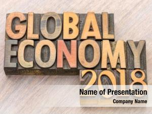 Global economy powerpoint theme