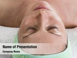 Woman forty years cosmetic treatment,