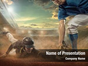 Dynamic baseball players action under