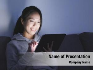 Woman looking at digital