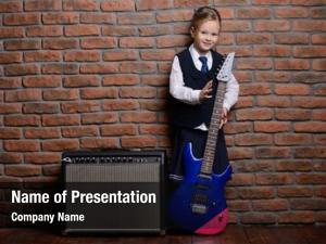Girl modern little school uniform