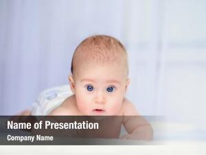 Three month old portrait sweet baby