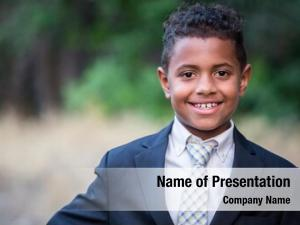 African american children portrait of a handsome young