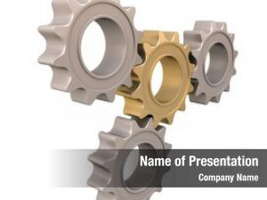 Set, gears cogwheels engineering abstract
