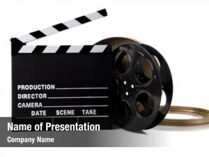Items hollywood movie including clapboard