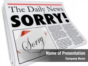 Newspaper sorry word headline communicate