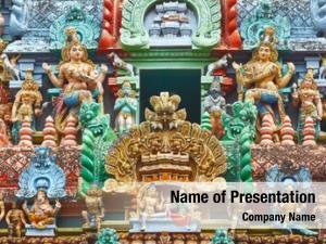 Temple sculptures hindu gopura (tower)