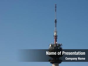 Tower broadcasting transmitter
