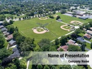Aerial view of basebal
