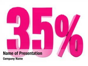 Percent pink 35% discount sign,
