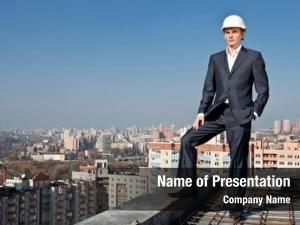 Roof worker builder helmet
