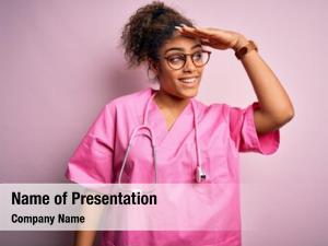 Nurse african american girl wearing