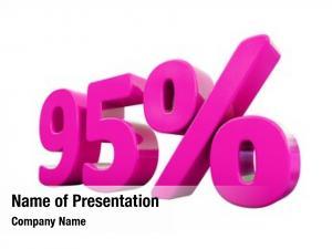 Percent pink 95% discount sign,