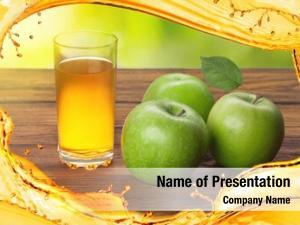 Juice glass apple apples splash