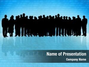 Business binary code people silhouette