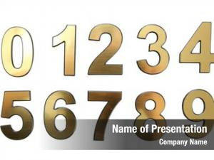 White golden numbers,