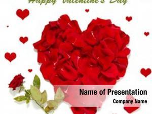 Red beautiful heart rose petals