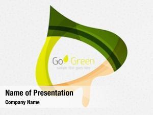 Geometric green concept, design eco