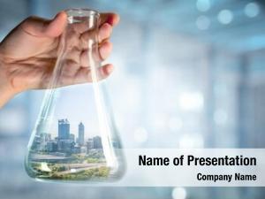 Glass city inside bottle