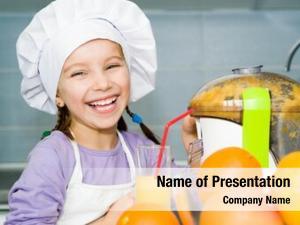 Orange girl making juice juice