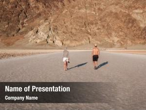Tourists in badwater basin
