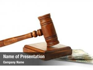 Jurisdiction wooden gavel on white